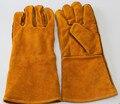 Segurança do Trabalho Luvas de Trabalho do Couro Luva de Isolamento Resistente Ao Calor de Soldagem Luvas Apicultura Moda Guanti Lavoro