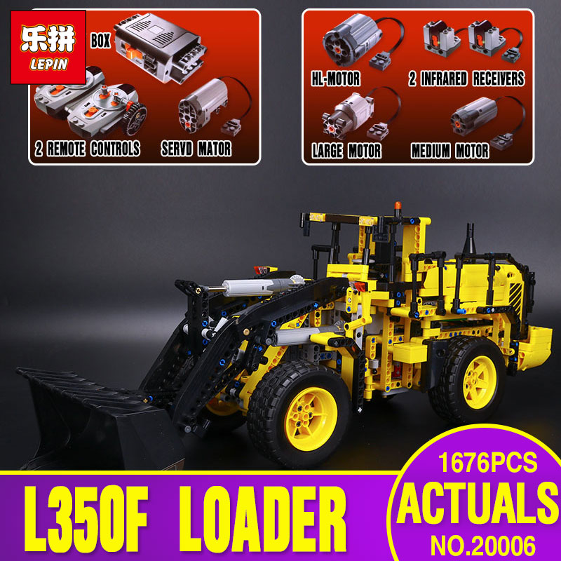 NEW LEPIN 20006 technic series 1636pcs Volvo L350F wheel loader Model Building blocks Bricks Compatible with 42030 Children Gift new lp2k series contactor lp2k06015 lp2k06015md lp2 k06015md 220v dc