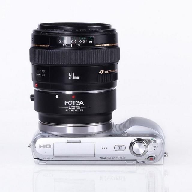 FOTGA Adaptador de Enfoque Automático AF Para Canon Ef-s de Sony E NEX NEX 3 C3 5 5N 5R 6 7 VG10 (f) VG20 (f) A7 A7R A6000