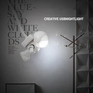 Image 2 - DC 5V portable reading LED USB energy saving light bulb for notebook mobile power emergency lamp USB Astronaut LED night light