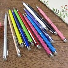 500 unids al por mayor microfibra fine point stylus táctil capacitiva stylus pen touch para ipad para iphone todos los teléfonos móviles tablet,