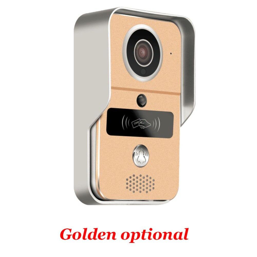 Wireless Sd karte Video Aufnahme Video Tür Telefon + RFID Keyfobs + Innen Glocke Wifi IP Tür Glocke POE Kamera für ONVIF Verbinden NVR - 4