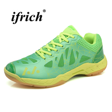цена Men Women Badminton Shoes Anti Slip Professional Tennis Sneakers Men 2018 Indoor Table Shoes Breathable Sneakers for Badminton онлайн в 2017 году