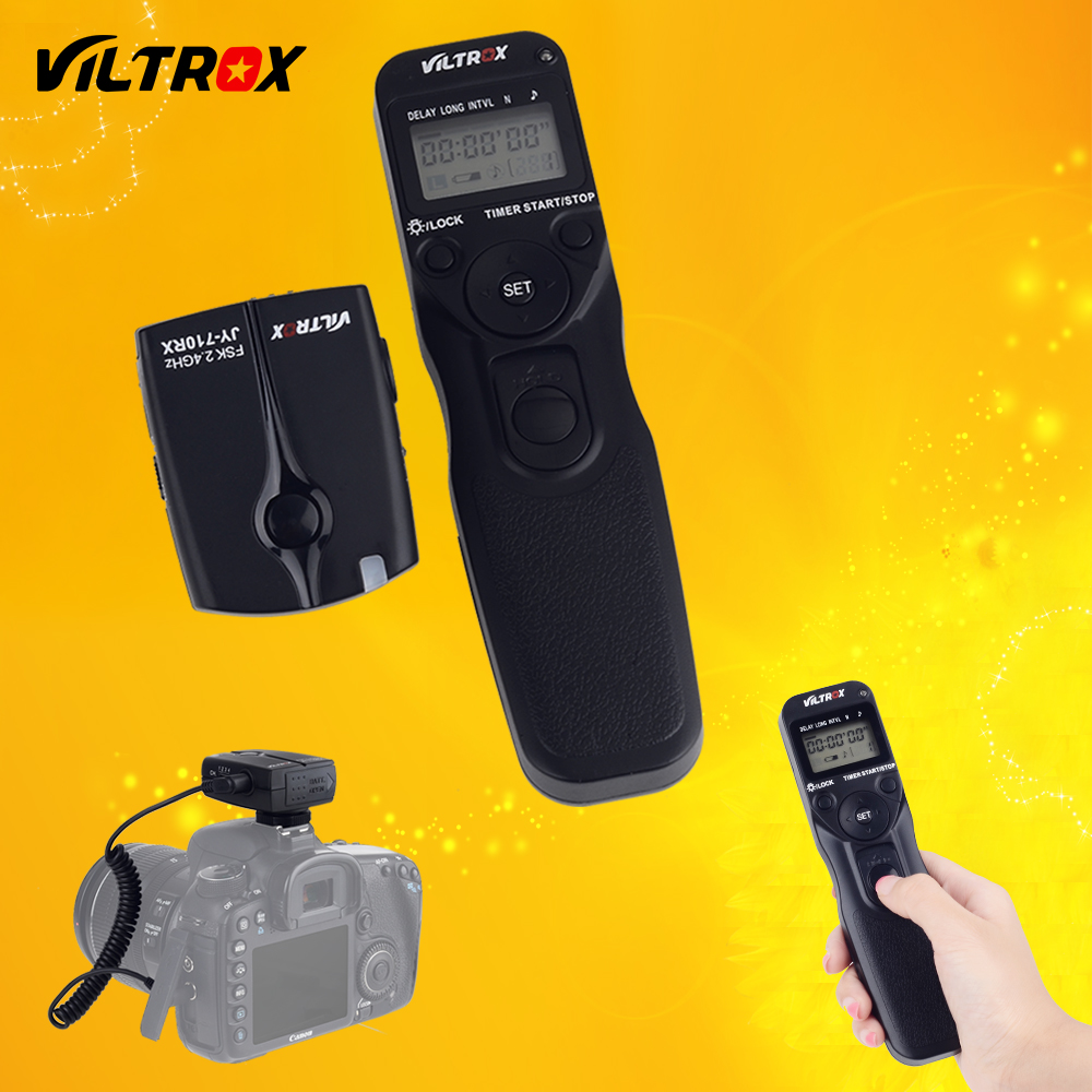 Viltrox JY-710-N3 Camera Wireless LCD Timer Remote Control Shutter Release for Nikon D90 D3200 D3100 D5600 D5500 D7200 D760 D610 1 2 lcd wired remote shutter release for nikon camera black