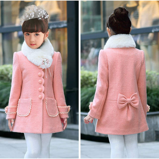 9a3aef265 Online Shop teen girls Outerwear Coats red and pink princess wool ...