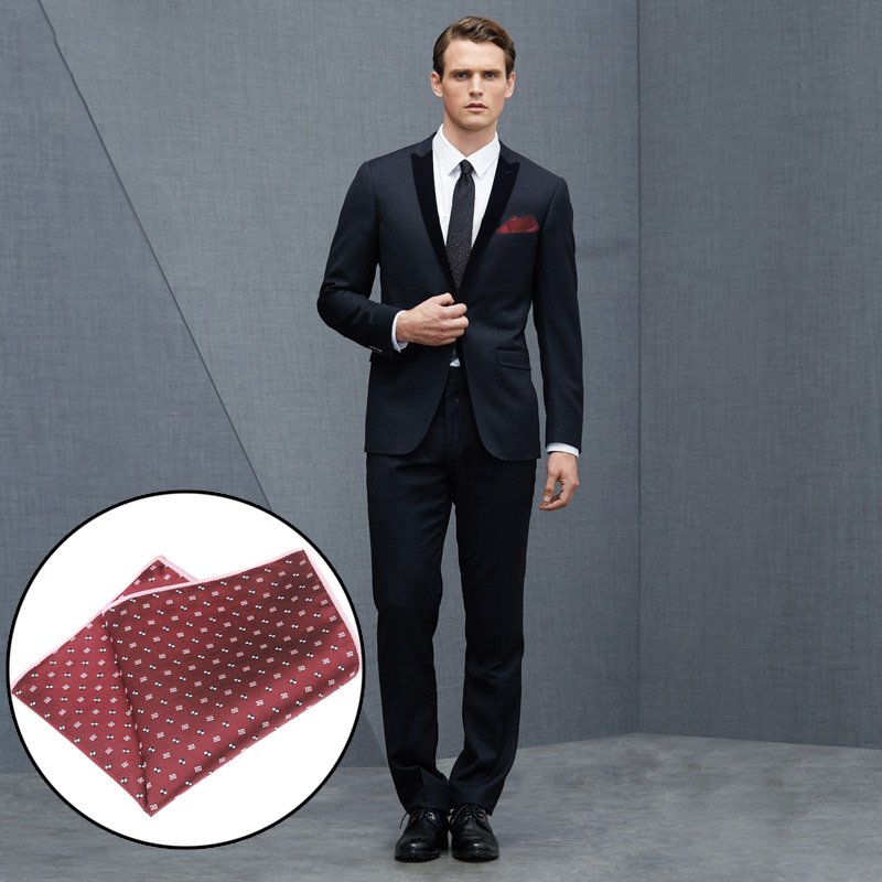 Men Pocket Square Handkerchief Jacquard Fashion For Business Groom Suit Party Best Man FS99