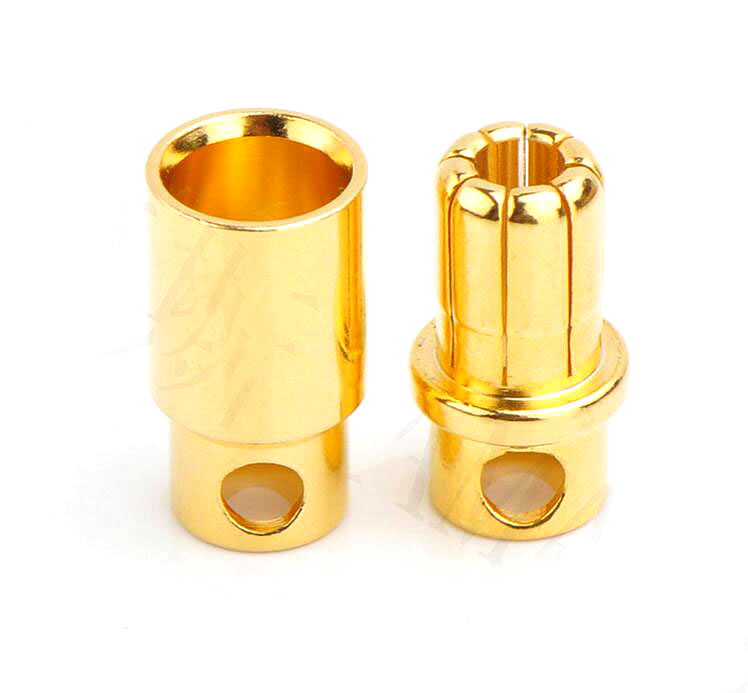 10 pairs AMASS 8.0mm banana plug 180A / 150A 7u thick gold-plated high-current electric  ...