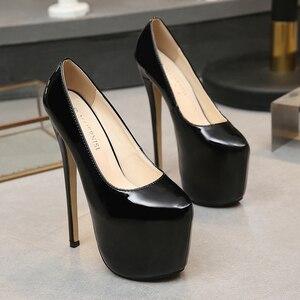 Image 2 - حذاء نسائي من MAIERNISI موضة الربيع والخريف مثير للزفاف بمقدمة دائرية حذاء نسائي بكعب عالٍ للغاية بكعب رفيع