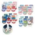 3 Pairs 0-2 Years Summer New Born Infant Cartoon Green Anti Slip Floor Boy Girl Meias Toddler Calcetines Baby Children Socks