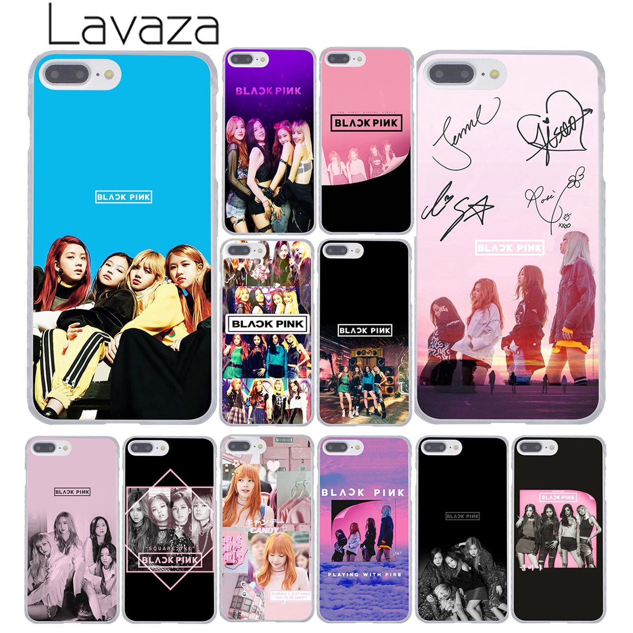 detailed look 2bf16 27e0b Lavaza BLACK PINK k-pop BLACKPINK kpop collage Cover Case for iPhone X XS  Max XR 6 6S 7 8 Plus 5 5S SE 5C 4S 10 Phone Cases