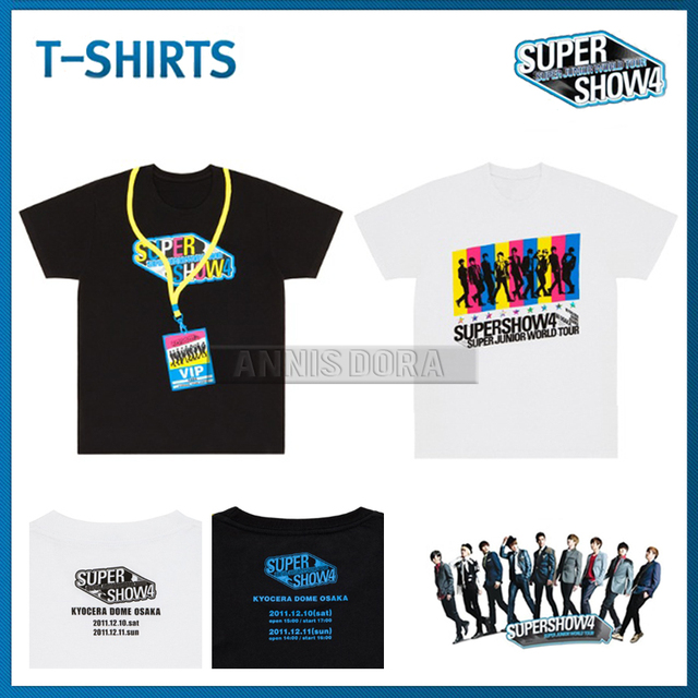 Super Junior SJ supershow 4 in world tour in osaka T shirt-in T ... 1df894cbab