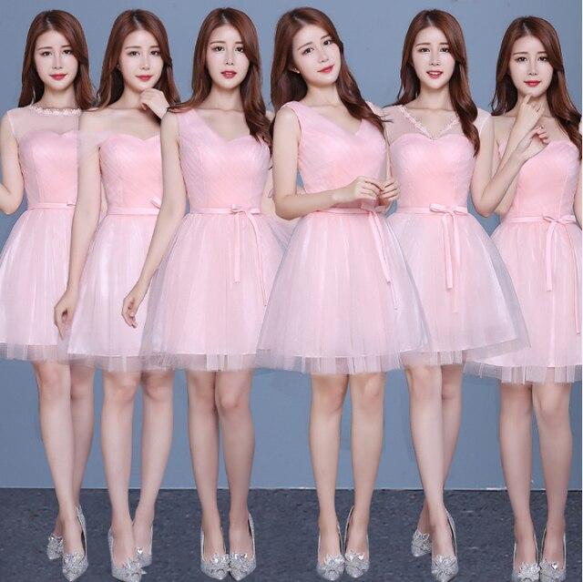 cb4baec5e04d6 متواضع وردي فاتح اللون تول قصير منفوش مشد فستان حفلة موسيقية فساتين الكرة  ثوب الوردي بنات