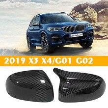 Карбоновое зеркало крышки Замена OEM Fitment для BMW новый X3 G01 X4 G02 2018 Новый X5 G05 2019 углеродное боковое зеркало M автомобильные аксессуары