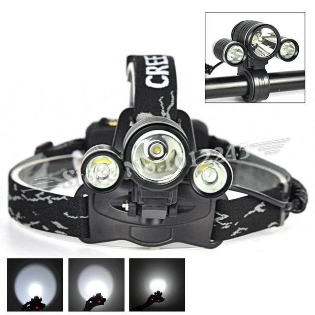 XML T6 +2R2 5000 Lumen Bike Front Light & Lantern Headlamp Headlight Flashlight Head Lamp Light Camping Fishing Torch+Mount