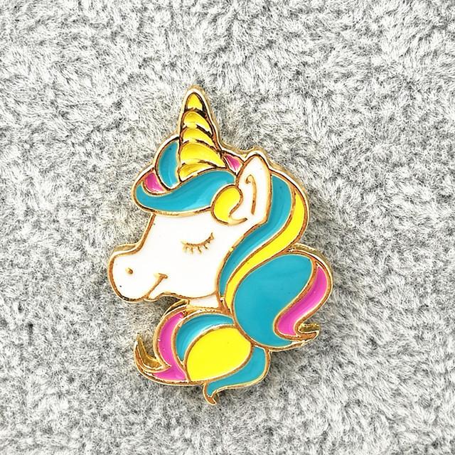 Cute Animal Unicorn Brooch Pins