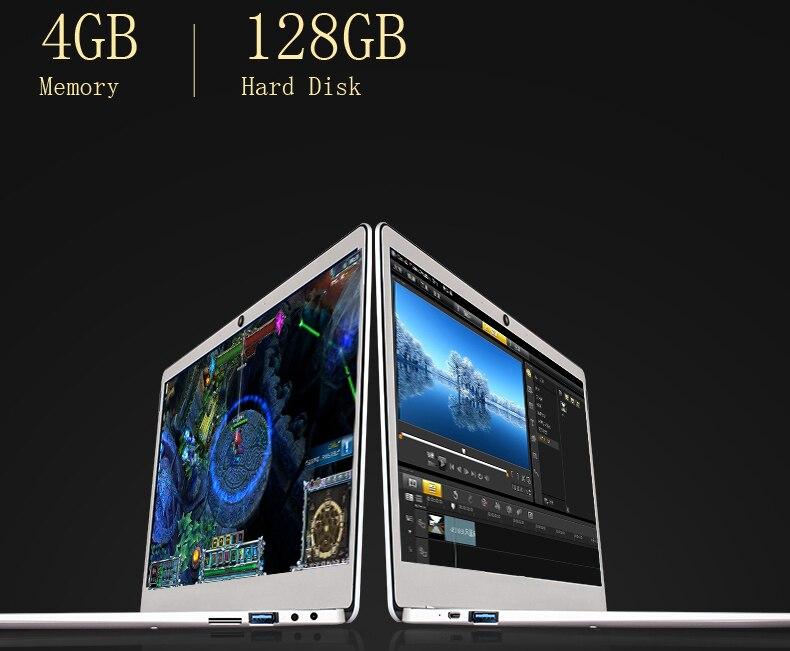 Jumper EZbook X4 laptop 14 1080P Metal Case notebook Gemini lake N4100 4GB 128GB SSD ultrabook backlit keyboard Dual Band Wifi (14)