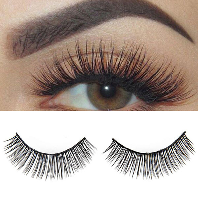 False Eyelashes Handmade Natural Long Soft Fake Eye Lashes Extension Makeup Full Strip Lashes
