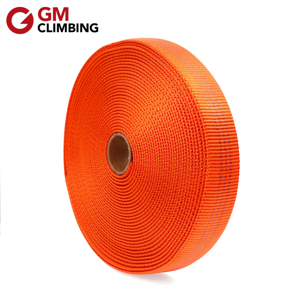 30ft Tubular Webbing 25mm Nylon Climbing Sling Outdoor Strap Belt For Rigging Anchoring Camping Gear Repair