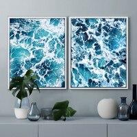 Meerblick-malerei Modern abstraktes Plakat Blauen Ozean Fotografie Leinwand Wandkunst Bild Home Decor Nordic Poster wohnzimmer