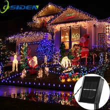 solar led string Lamps 12M 100LEDs Flower Blossom Decorative Lights Waterproof white fairy Garden Outdoor Christmas light(China)