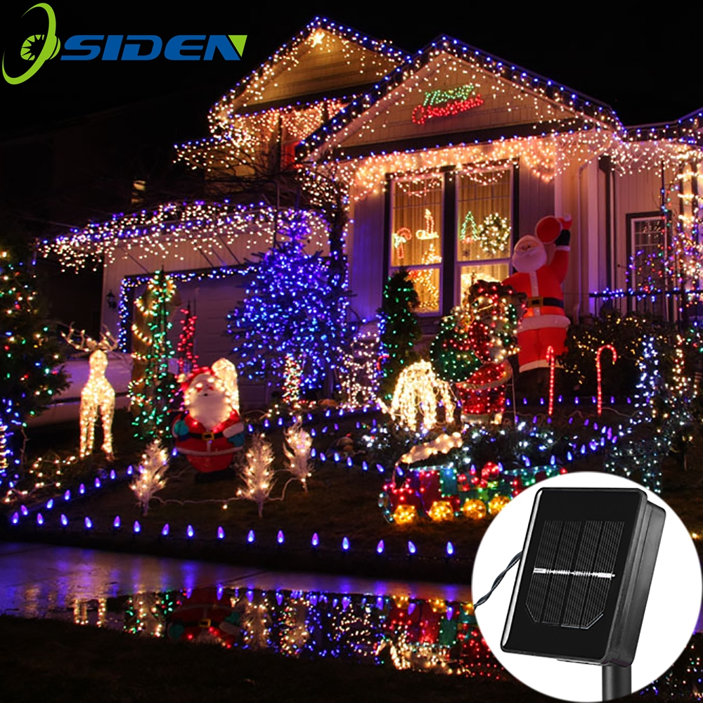 solar led string Lamps 12M 100LEDs Flower Blossom Decorative Lights Waterproof white fairy Garden Outdoor Christmas light