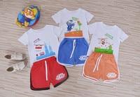 Fashion 2016 Summer Super Wings Children Sport Set T Shirts And Shorts Boy Girl Cartoon Plane