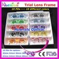 Xd05 5 unids mucho colorido fijas PD distancia optometría lente de ensayo de 10 colores diferentes costes de envío más bajos