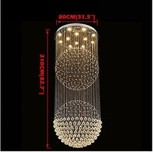 LED Modern Crystal Chandelier 12 Lights Silver transparent Clear Crystal Globe Ceiling Lamps Fixtures 80CM K9 Crystal H210CM цена