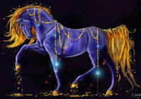 Rhinestone Purple Horse Cross Stitch Diy 5d Diamond Painting Handmade Needlework Home Decor Mosaic Round Full