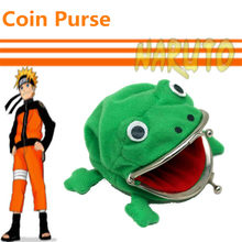 cosplay Naruto Anime Around Cute Naruto Frog Wallet Purse Metal buckle Keychain frog wallet Toy for kids/adult gift(China)