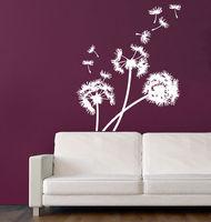Naklejki ścienne Dandelion Kwiat Vinyl Naklejka Naklejka Art Mural Home Decor 22x35 cal