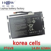 HSW battery 14.8V 63WH For Dell Alienware M11x R1 R2 R3 M14x R1 R2 R3 8P6X6 P06T PT6V8 T7YJR 08P6X6 KR 08P6X6 bateria