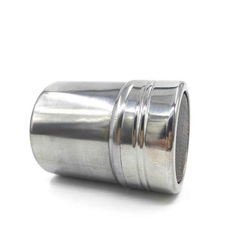 1Pc נירוסטה מפזרים קקאו קינמון סוכר גזה רשת צנצנת תיבול בקבוק מפואר קפה מטלית אבקת פלפל שייקר יכול