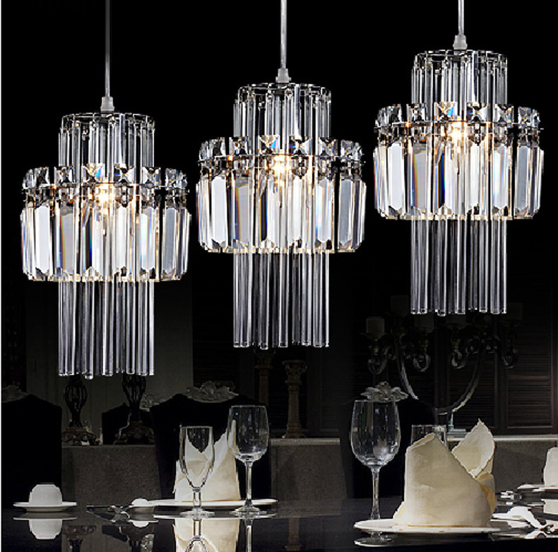 Crystal Pendant Lamp Industrial Bar Pendant Light Kitchen ...
