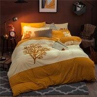 New winter Bedding set Fleece fabric cover bed sheet duvet cover sets comforter Dandelion bedding sets housse de couette 4pcs
