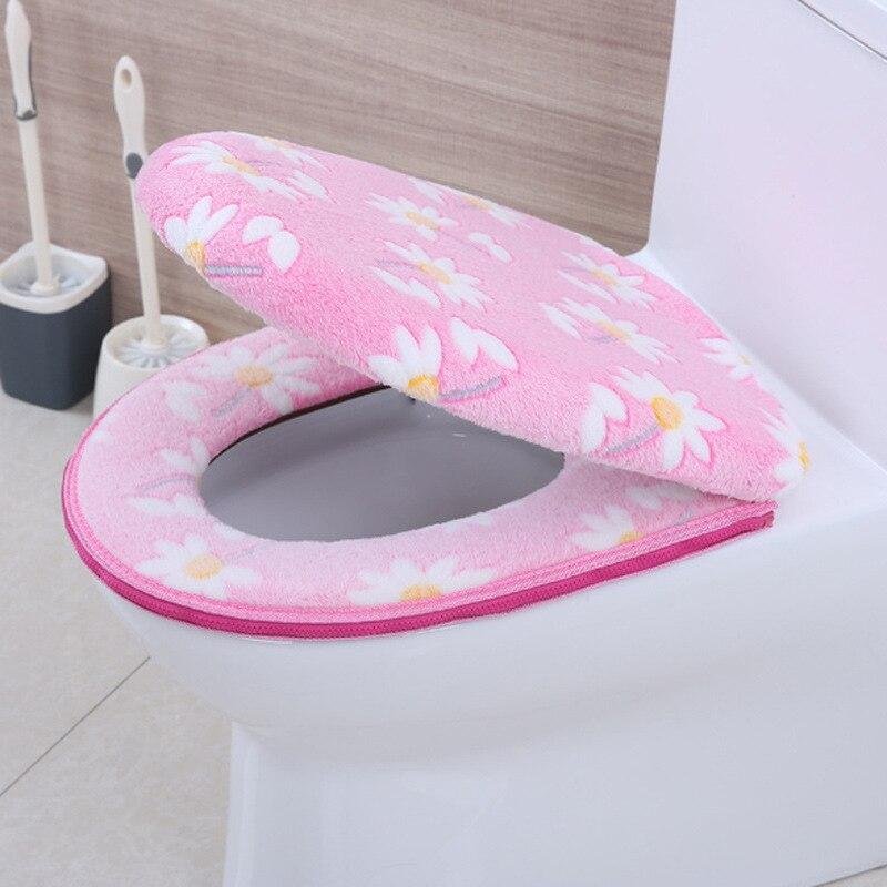 New Bathroom Toilet Seat Closestool Washable Soft Warmer Mat Cover Pad Cushion