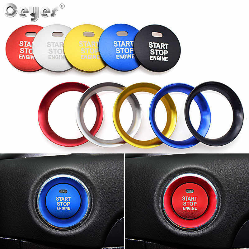 Ceyes Auto Styling Motor Start Stop Knop Ring Interieur Accessoires Case Voor Mazda BM 3 CX 5 2017 CX-5 CX5 atenza Switch Covers