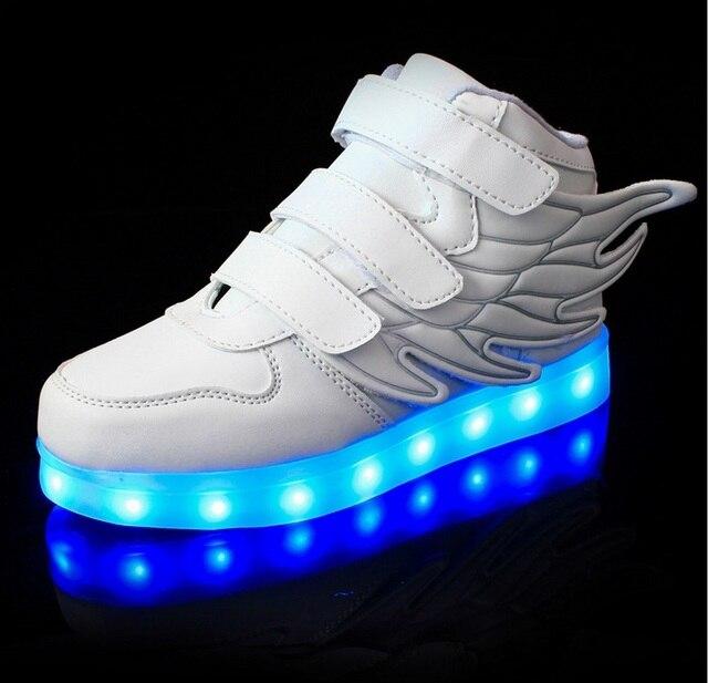 8a4048c6b48 Kinderen USB Opladen Mand Led Schoenen Met Licht Up Kids Casual Jongens & Meisjes  Lichtgevende Sneakers
