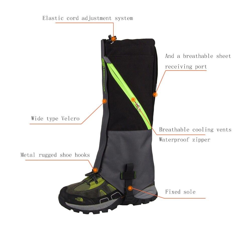 2 Strati Impermeabile Campeggio Trekking Neve Ghette Piedino Per Outdoor Skate Sci A Piedi Shin Leg Protect Attrezzature 2 pz