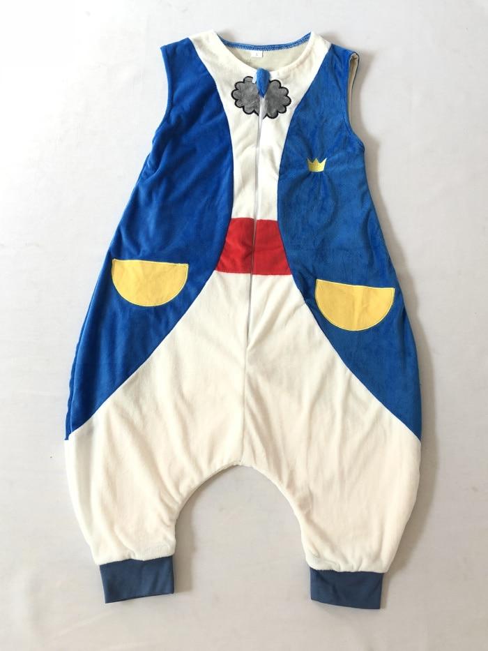 Детский спальный мешок, фланелевый мягкий удобный и удобный спальный мешок-с безопасной застежкой-молнией-Детские подушки унисекс/Детская Пижама - Цвет: Blue Prince