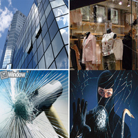 100cm X 30m Safety Window Film Transparent Glass Shatter Films