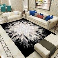 Nordic geométrico tapetes para sala de estar quarto área estilo metal impresso tapete casa macio tapete doormat salão decoar tapet