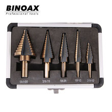 5pcs/Set HSS COBALT MULTIPLE HOLE 50 Sizes STEP DRILL BIT SET w/ Aluminum Case new women wool blends long coat autumn winter 2019 fashion sashes woolen jacket slim outerwear female