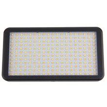 1 pc 228LED Luz de Vídeo para Câmera DV Camcorder Iluminação 6000 K Caixa Preta Transporte Da Gota Promoção Quente