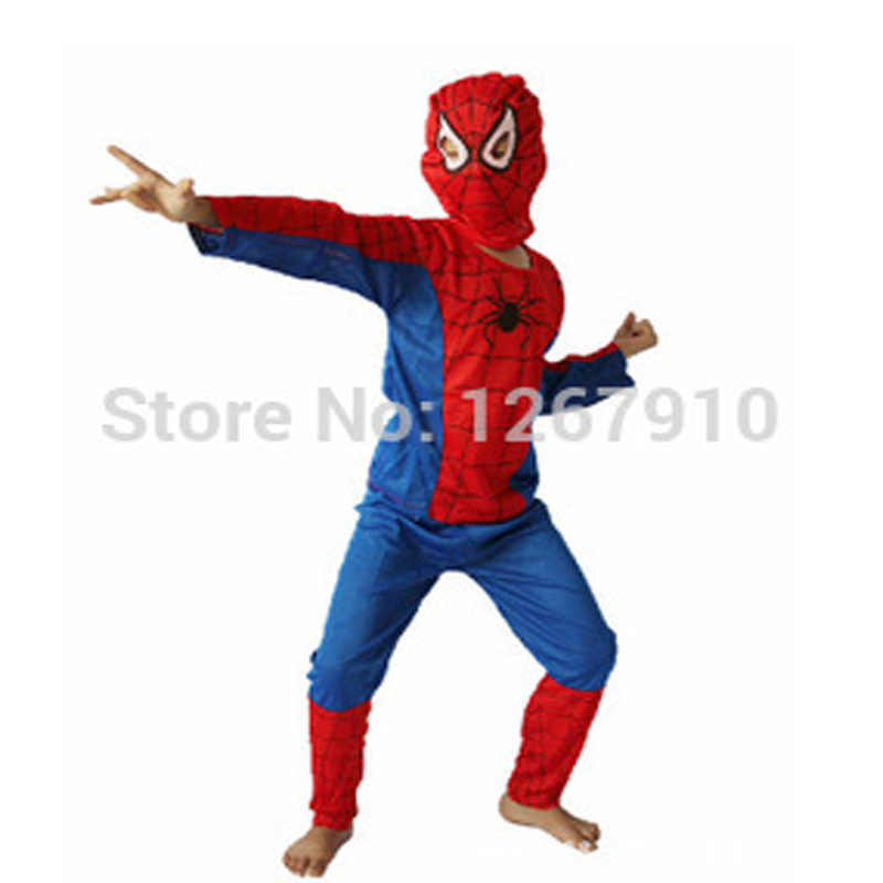 Children Cartoon Spider Man Cosplay Suit Boys BNWT Spiderman Costume Peter Parker Halloween Party Christmas New Year Clothes SML