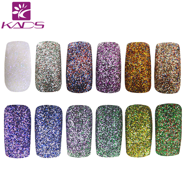 KADS Nail Glitter Dust Powder Nail Art Manicure Decoration Glitters Nails Glitter Powder Pigment Flake Dust Chrome Shining DIY