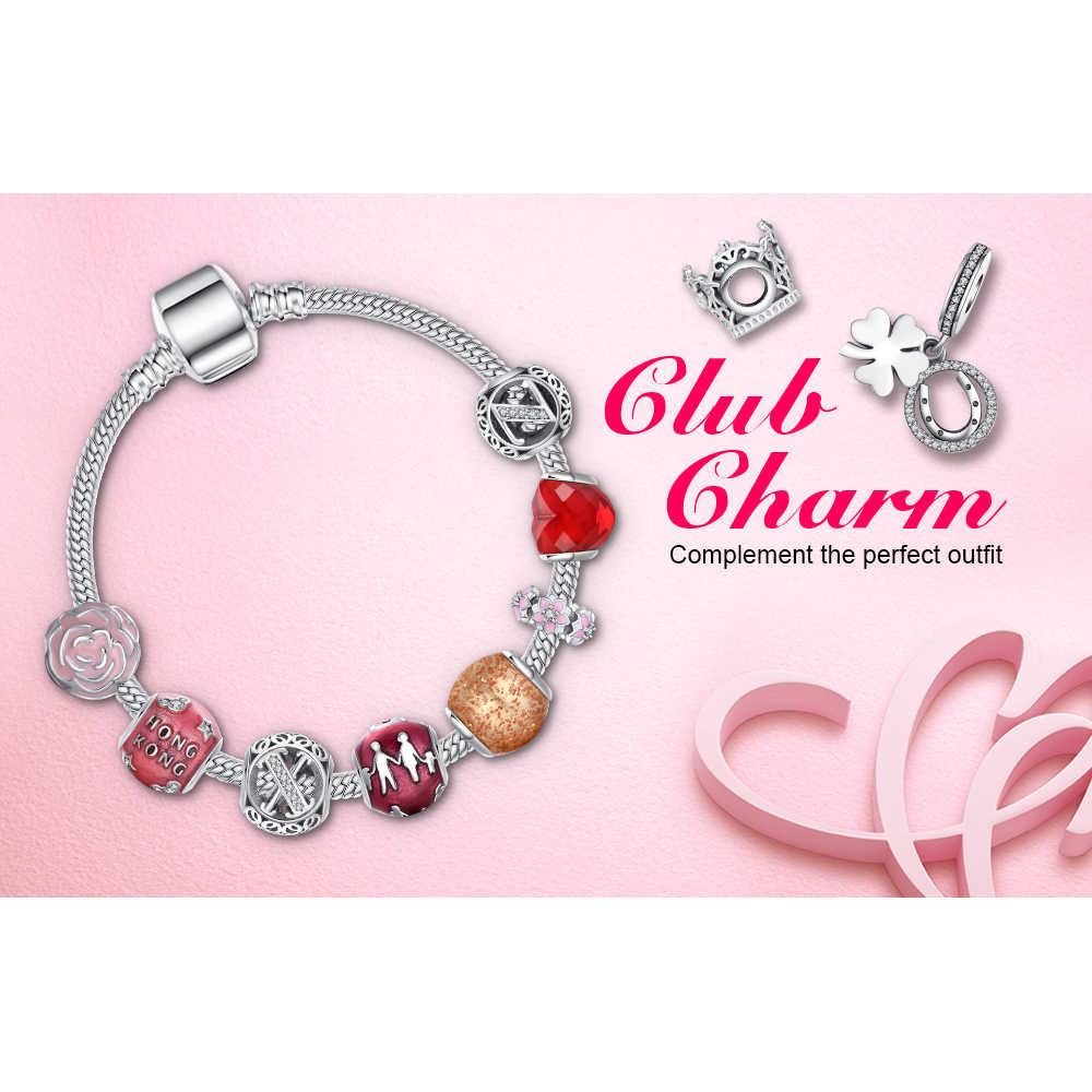 JewelryPalace yapraklı yonca 925 ayar gümüş boncuk Charms gümüş 925 orijinal için bilezik gümüş 925 orijinal takı yapımı