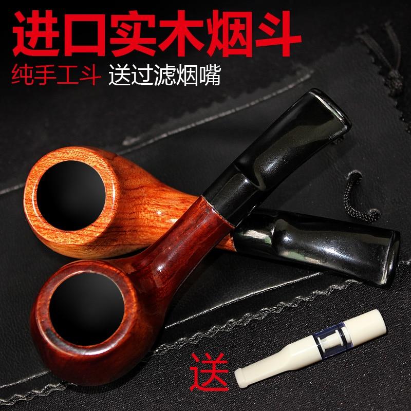 Meerschaum pipe à fumer bois fait à la main mâle pipe tabac lié spécialité chinoise