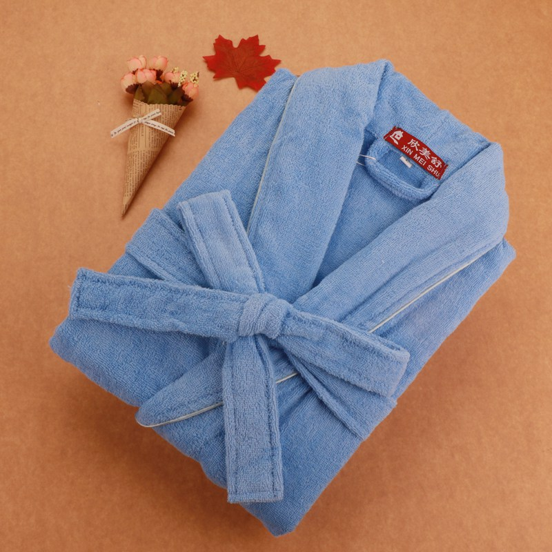 Men Bathrobe Cotton Pijamas Bridesmaid Robes V-neck Towel Fleece Kimono Robe Sleepwear Full Sleeve Nightwear Free Shipping