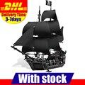 DHL 2017 LEPIN 16006 Piratas del Caribe La Perla Negro Modelo de Construcción Bloques Establece Juguetes Clon 4184